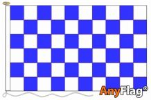 -BLUE AND WHITE CHECK  ANYFLAG RANGE - VARIOUS SIZES